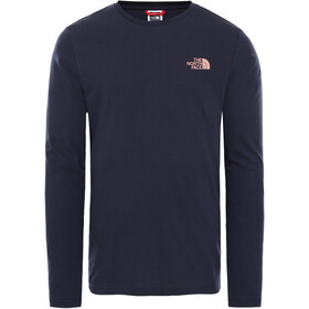The North Face Easy Longsleeve T-Shirt Heren, aviator navy/pink clay